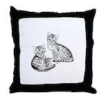 Savannah kittens Throw Pillow