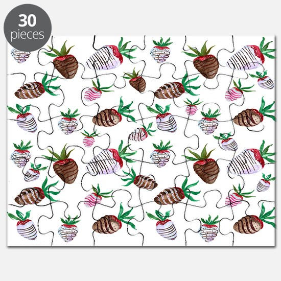 Yummy Chocolate Covered Strawberries Puzzle