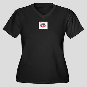 Softball Mom Stitch Plus Size T-Shirt