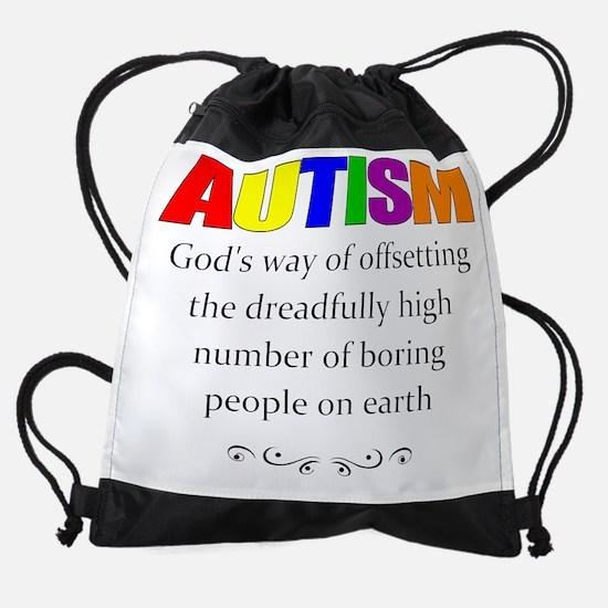 autism kills boredom Drawstring Bag