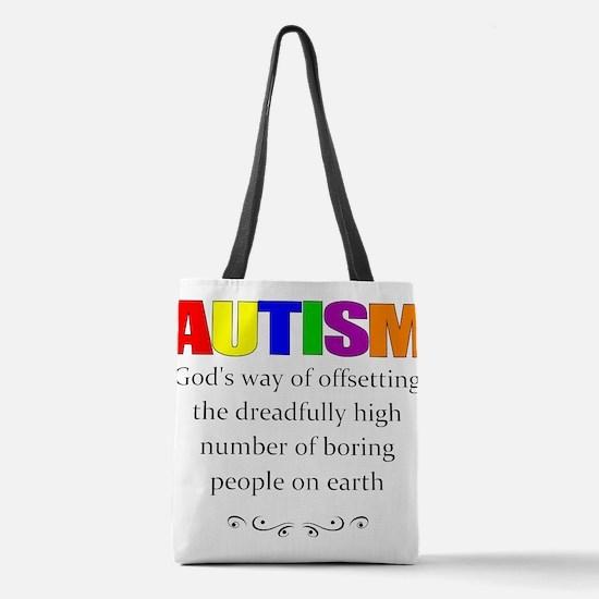 autism kills boredom Polyester Tote Bag