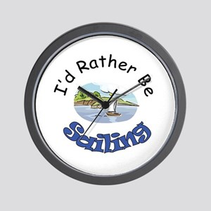 I'd Rather Be Sailing Wall Clock