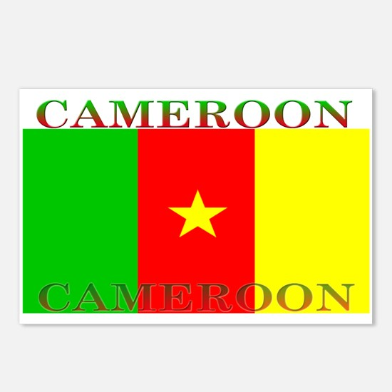 Cameroon Cameroonian Flag Postcards (Package of 8)