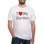 I (Heart) My Garden Fitted T-Shirt