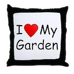 I (Heart) My Garden Throw Pillow
