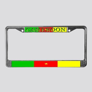 Cameroon Blank Flag License Plate Frame