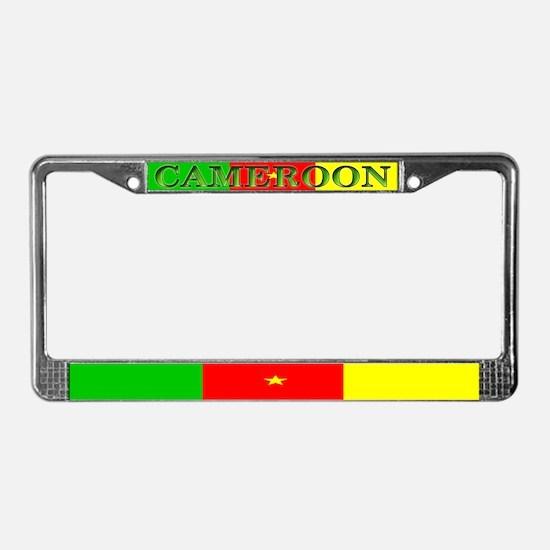 Cameroon Blank Flag License Plate Frame