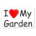 I (Heart) My Garden Rectangle Sticker