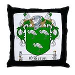 O'Heron Family Crest Throw Pillow
