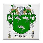 O'Heron Family Crest Tile Coaster