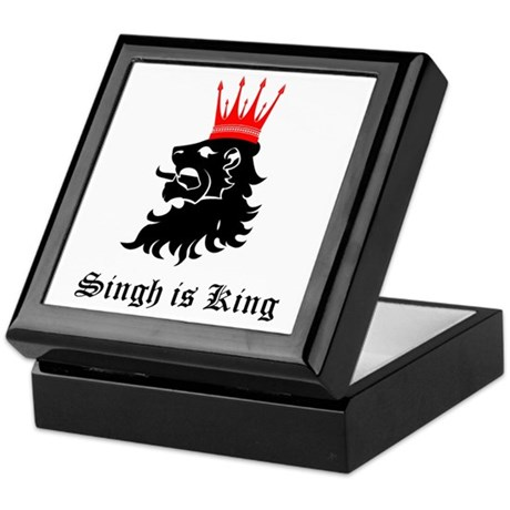 Singh is King Keepsake Box