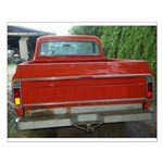 Ch######T Truck Tailgate Small Poster