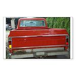 Ch######T Truck Tailgate Rectangle Sticker