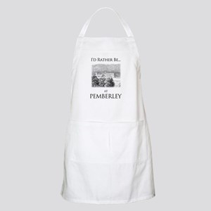 I'd Rather Be At Pemberley Light Apron
