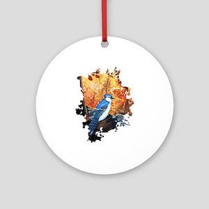Blue Jay Life Round Ornament