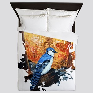 Blue Jay Life Queen Duvet