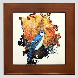 Blue Jay Life Framed Tile