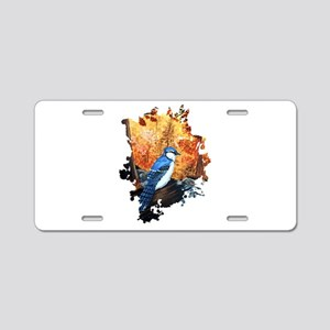 Blue Jay Life Aluminum License Plate
