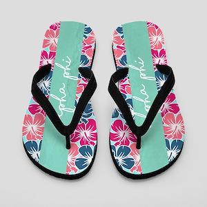 Alpha Phi Floral Flip Flops