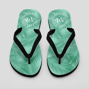 Alpha Phi Leaves Flip Flops