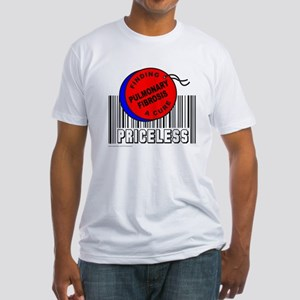 PULMONARY FIBROSIS FINDING A CURE Fitted T-Shirt