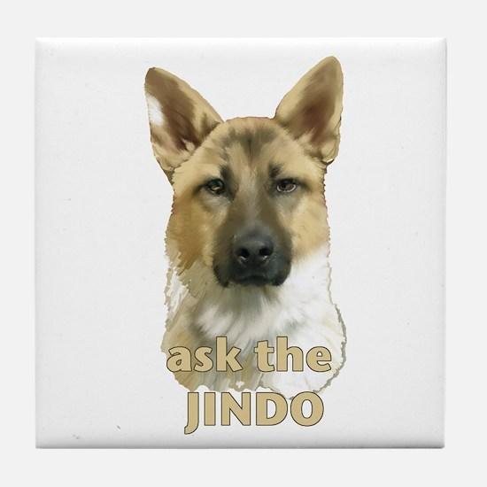 jindo ask Tile Coaster