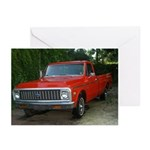 1971 C###y Truck Front & Rear Greeting Cards (Pk o