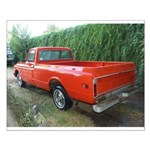 1971 C###y Truck Front & Rear Small Poster