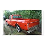 1971 C###y Truck Front & Rear Rectangle Sticker