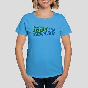 Proud to be Irish and Scottish Women's Dark T-Shir