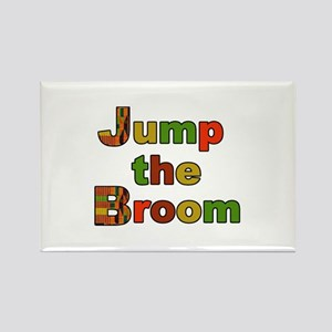 Kente Cloth Jump the Broom Rectangle Magnet
