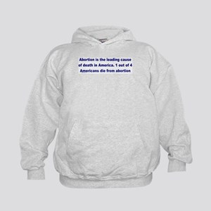 Abortion Leading Cause of Death Kids Hoodie