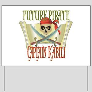Captain Kabili Yard Sign