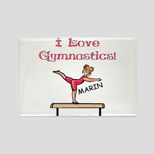 I Love Gymnastics (Marin) Rectangle Magnet