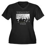 Penguin This Women's Plus Size V-Neck Dark T-Shirt