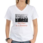 Get Thee to a Nunnery Women's V-Neck T-Shirt