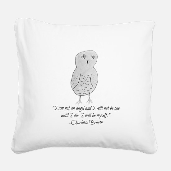Owl Be Myself Square Canvas Pillow