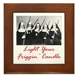 Light Your Candle Framed Tile
