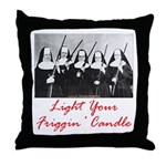 Light Your Candle Throw Pillow