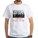 Light Your Candle White T-Shirt