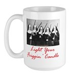 Light Your Candle Large Mug