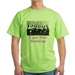 Count Your Blessings Green T-Shirt