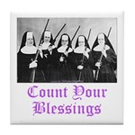 Count Your Blessings Tile Coaster