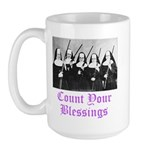 Count Your Blessings Large Mug