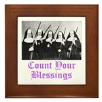 Count Your Blessings Framed Tile