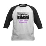 Count Your Blessings Kids Baseball Jersey