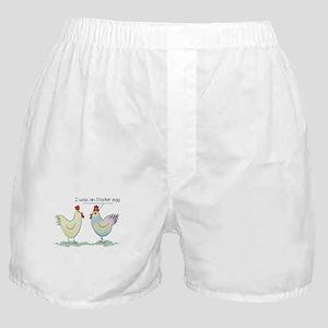 Funny Easter Egg Chicken Boxer Shorts