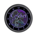 Crochet Purple Wall Clock