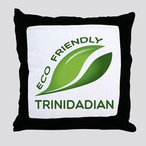 Eco Friendly Trinidadian County Desig Throw Pillow