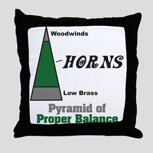 Proper Balance Throw Pillow